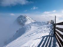 Picco di Chopok sull'inverno nevoso Fotografia Stock