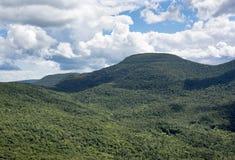 Picco di comedone nelle montagne di Catskill di estate fotografie stock