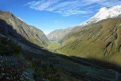 Picco di Huascaran dal passaggio di Punta Olimpica, Perù Fotografia Stock