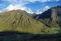 Picco di Huascaran dal passaggio di Punta Olimpica, Perù Immagini Stock