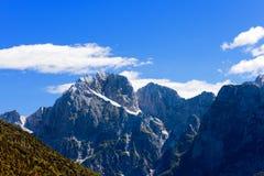 Picco di Jalovec - la Slovenia Europa Fotografia Stock Libera da Diritti