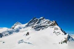 Picco di Jungfrau, Jungfraujoch, cima di Europa Immagini Stock