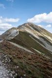 Picco di kopa di Hruba in montagne occidentali di Tatras in Slovacchia Immagini Stock Libere da Diritti