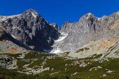 Picco di Lomnicky, alto Tatras, Slovacchia Fotografie Stock