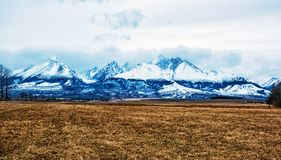 Picco di Lomnicky, alto Tatras, Slovacchia, scena stagionale fotografia stock libera da diritti
