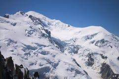 Picco di Mont Blanc Immagine Stock Libera da Diritti