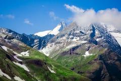 Picco di montagna in alpi dell'Austria Fotografia Stock