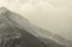 Picco di montagna della neve Immagini Stock Libere da Diritti