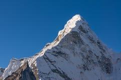 Picco di montagna di Ama Dablam, regione di Everest Immagine Stock Libera da Diritti