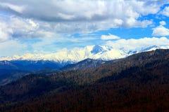Picco di montagna di ghiaccio Fotografie Stock