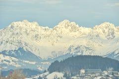 Picco di montagna di Kaiser in Alpes Fotografie Stock Libere da Diritti
