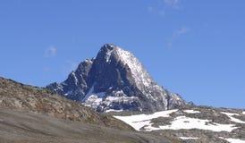 Picco di montagna di Les Deux Alpes Fotografie Stock