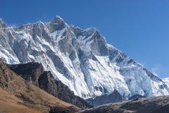 Picco di montagna di Lhotse, regione di Everest Fotografie Stock Libere da Diritti