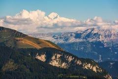 Picco di montagna di Mont Blanc Fotografie Stock Libere da Diritti