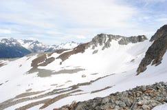 Picco di montagna di Whistler Immagini Stock