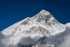 Picco di montagna di Everest, picco di più alta montagna nel mondo, Himal Immagine Stock Libera da Diritti