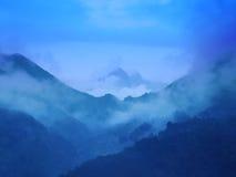 Picco di montagna in giorno piovoso Immagine Stock Libera da Diritti