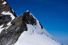 Picco di montagna - Jungfraujoch, Svizzera Immagini Stock