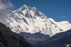 Picco di montagna di Lhotse, in quarto luogo più alta montagna nel mondo, Hima Immagine Stock