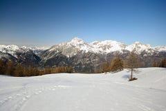 Picco di montagna maestoso Fotografie Stock