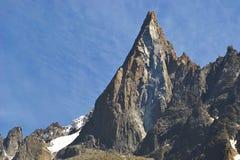 Picco di montagna rocciosa Immagini Stock Libere da Diritti