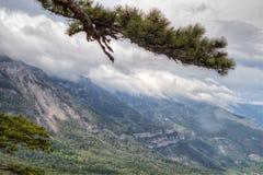Picco di montagna rocciosa Fotografia Stock Libera da Diritti