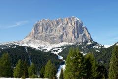 Picco di montagna in Val di Fassa Fotografie Stock Libere da Diritti