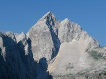 Picco di montagna vigoroso Jalovec Immagini Stock