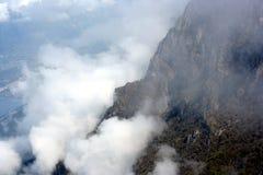 Picco di Monte Baldo in nubi Fotografia Stock