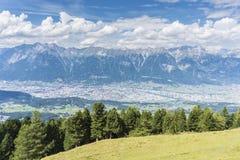 Picco di Patscherkofel vicino ad Innsbruck, Tirolo, Austria Immagini Stock