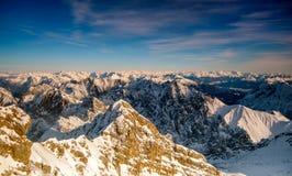 Picco di più alta montagna Zugspitze vicino a Garmisch Partenkirchen La Baviera, Germania Fotografia Stock Libera da Diritti