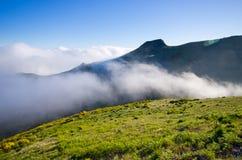 Picco di Pico Ruivo sull'isola del Madera, Portogallo Fotografia Stock