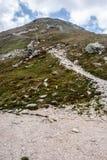 Picco di Placlive dal passaggio di sedlo di Ziarske in montagne di Zapadne Tatry in Slovacchia Fotografia Stock Libera da Diritti