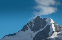 Picco di punta di Bernina nelle alpi svizzere Fotografie Stock