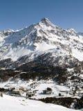 Picco di una montagna Fotografie Stock
