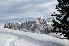 Picco di Undici nell'inverno Fotografie Stock