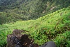 Picco di vista della montagna Fotografia Stock Libera da Diritti