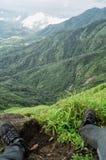 Picco di vista della montagna Fotografia Stock