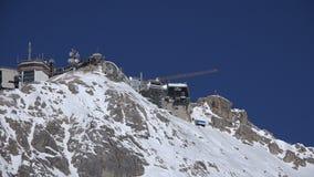 Picco di Zugspitze, stazione della sommità video d archivio