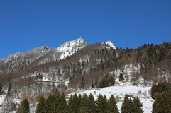 picco innevato della montagna Fotografia Stock Libera da Diritti