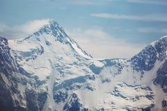 Picco nevoso della montagna di Beluha Paesaggio di Altai Immagine Stock Libera da Diritti