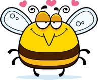 Piccola ape nell'amore Immagine Stock