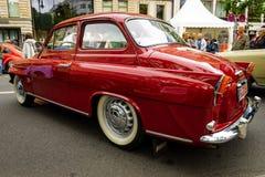 Piccola automobile di famiglia Skoda S440, 1958 Immagine Stock Libera da Diritti