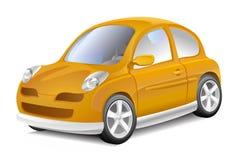 Piccola automobile gialla Immagini Stock