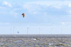 Piccola azienda agricola di vento di terra Fotografia Stock Libera da Diritti