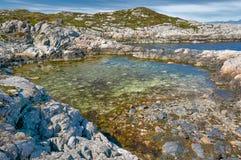 Piccola baia norvegese del Mare del Nord Fotografie Stock