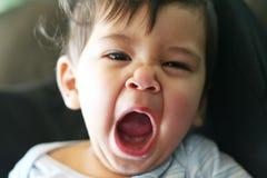 Piccola bambina sonnolenta Fotografia Stock