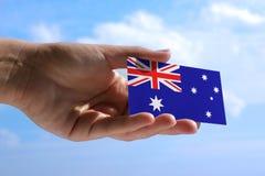 Piccola bandiera dell'Australia Fotografia Stock Libera da Diritti