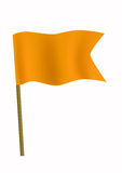 Piccola bandierina arancione Immagini Stock Libere da Diritti
