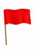 Piccola bandierina rossa Immagini Stock